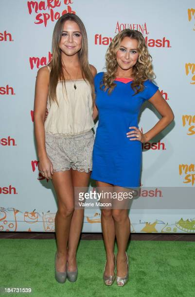 Makenzie Vega and Alexa Vega arrives at Aquafina FlavorSplash Launch Party With Austin Mahone Nick Cannon at Sony Pictures Studios on October 15 2013...