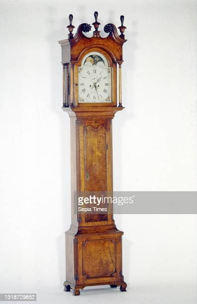 Frederick Heisely, American, 1759–1839, Tall Case Clock, Walnut, yellow-poplar, painted sheet iron, 100 1/4 × 20 7/16 × 11 1/4 in. , Tallcase clocks...
