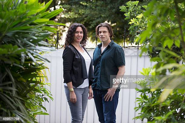 Makers of the documentary 'The Dog' Allison Berg Frank Keraudren are photographed for Los Angeles Times on July 21 2014 in West Hollywood California...