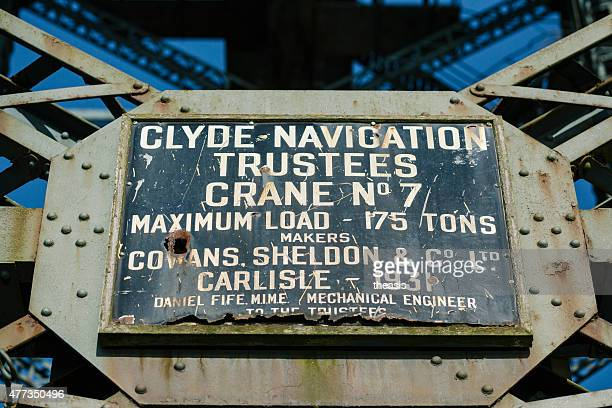 Maker's Plate on the Finnieston Crane, Glasgow