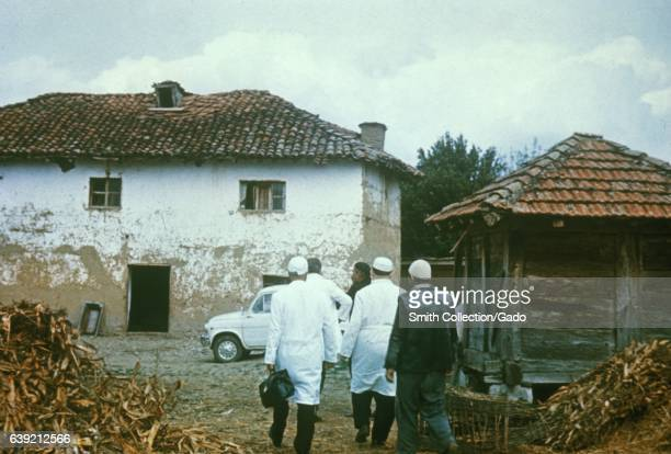 Makeshift Hospital for smallpox patients during the epidemic in Kosovo Yugoslavia in 1972 1972 Image courtesy CDC/Dr William Foege