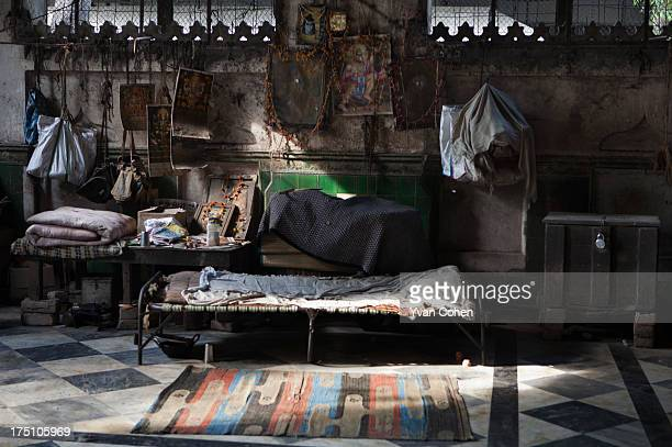Makeshift living quarters at a ghat along the banks of the Hooghly river in Kolkata Kolkata is India's oldest port city It is a place of sharp...