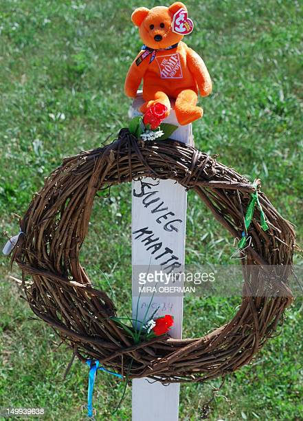 A makeshift memorial sits near the Sikh Temple of Wisconsin August 2012 in Oak Creek Wisconsin A suspected gunman 40yearold Wade Michael Page...
