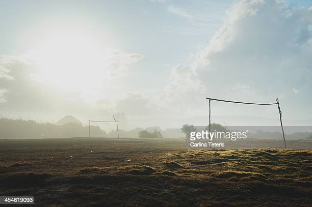 Make-shift Soccer/football field in a rural villag