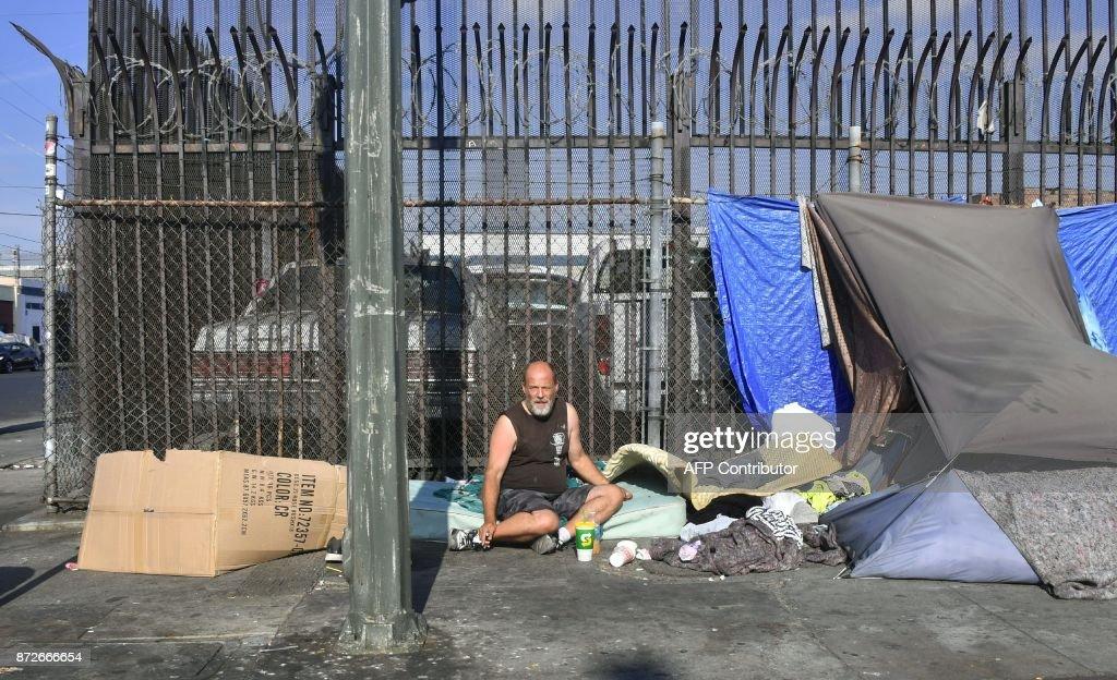 US-SOCIETY-HOMELESS : News Photo