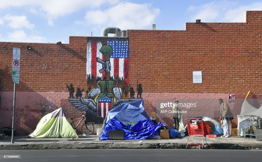 US-SOCIETY-HOMELESS : News Photo