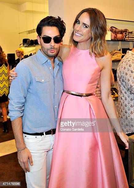 Makeup aritst/hair stylist Joey Maalouf and fashion expert and author Louise Roe attend Louise Roe's Book Launch hosted by Monique Lhiuhllier Cameron...