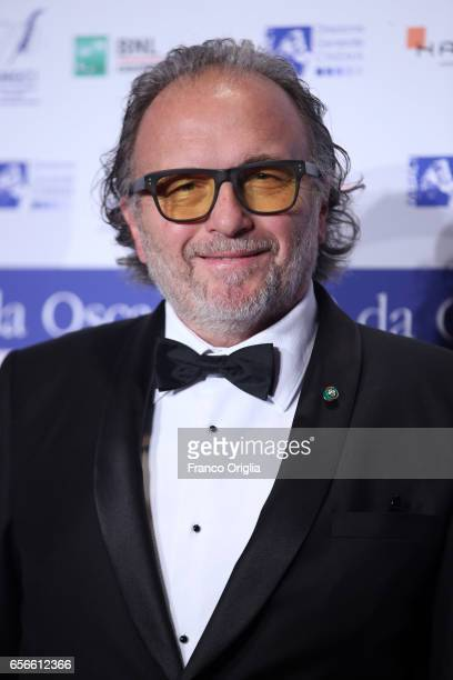 Makeup artist Alessandro Bertolazzi attends a photocall for Nastri D'Argento on March 22 2017 in Rome Italy