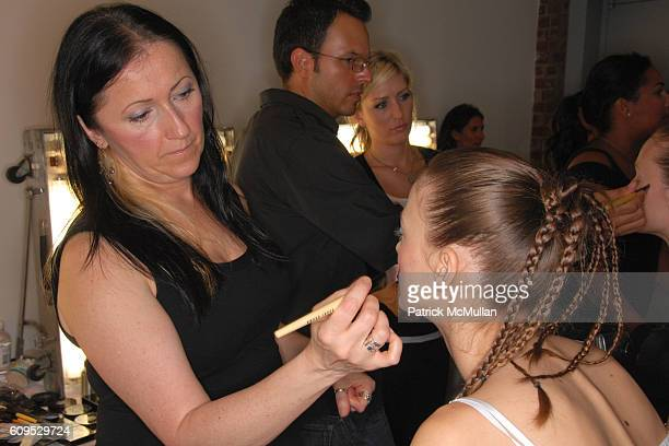 Makeup Artist and Model attend BOBBI BROWN NY Fashion Week Spring 08 – BRIAN REYES at Chelsea Art Museum on September 8 2007 in New York City