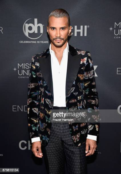 Makeup artist and pageant judge Jay Manuel attends the 2017 Miss Universe Pageant at Planet Hollywood Resort Casino on November 26 2017 in Las Vegas...