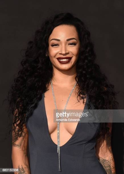 Makeup artist and television personality Brandi J Andrews arrives at the premiere screening for E's What Happens At The Abbey at The Abbey on May 14...