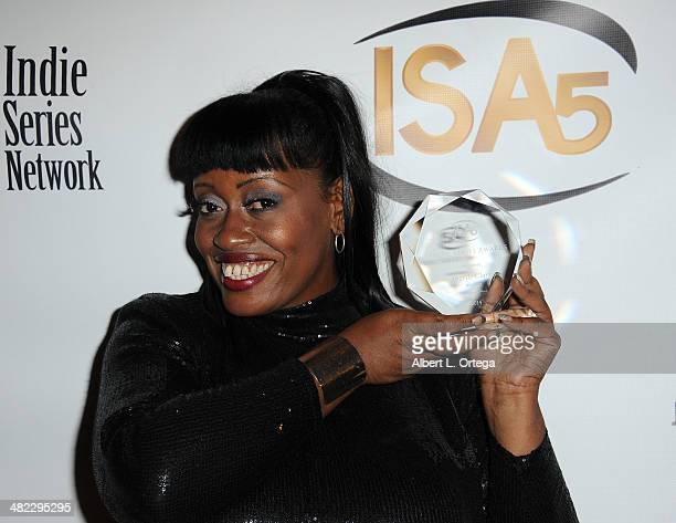 Makeup Artist Angelle Clarke Best Makeup Bloomers attends 5th Annual Indie Series Awards held at El Portal Theatre on April 2 2014 in North Hollywood...