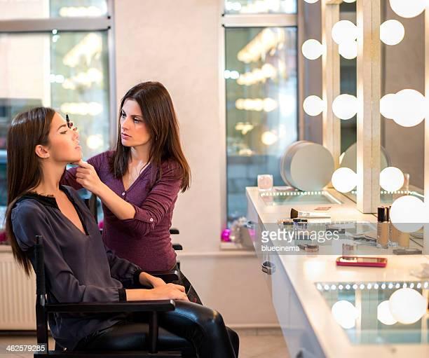 Makeup Artist al lavoro