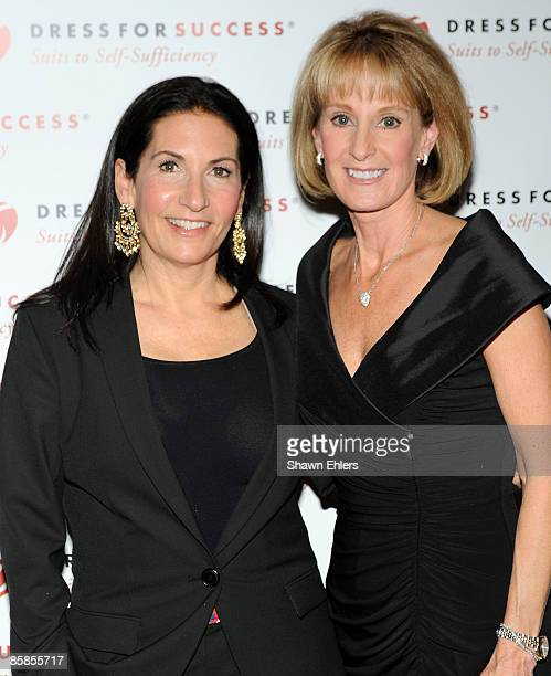 Makeup artist Bobbi Brown and Linda Armstrong Kelly attend the 2009 Dress for Success Worldwide Gala at the Grand Hyatt at Grand Central Station on...