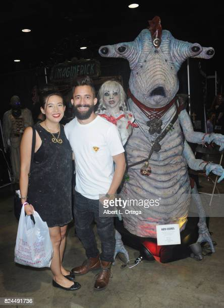 Makeup artist Cat Paschen and Niko Gonzalez from SyFy's 'Face Off' attend Day 1 of Midsummer Scream Halloween Festival held at Long Beach Convention...