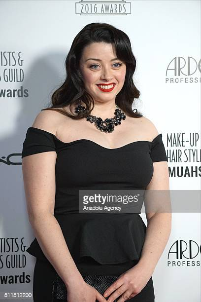 Makeup Artist Clare Ramsey attends MakeUp Artists and Hair Stylists Guild Awards at Paramount Studios in California USA on February 20 2016