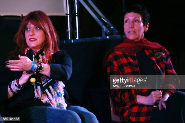 Makeup artist Debbie Zoller and Executive Producer Sabrina S Sutherland answer questions during the Twin Peaks UK Festival 2017 at Hornsey Town Hall...