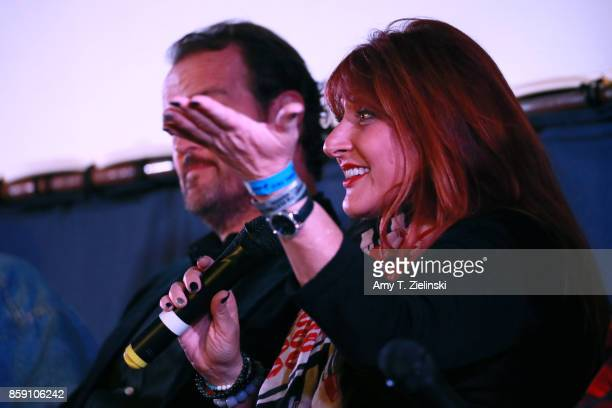 Makeup artist Debbie Zoller answer questions during the Twin Peaks UK Festival 2017 at Hornsey Town Hall Arts Centre on October 8 2017 in London...