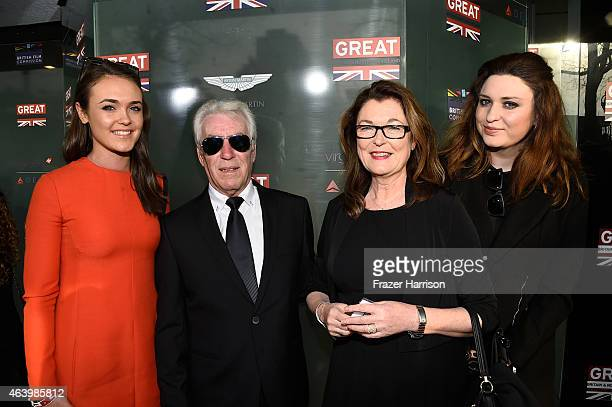 Makeup artist Frances Hannon with Richard Hearn and guests attend the GREAT British film reception honoring the British nominees of the 87th Annual...