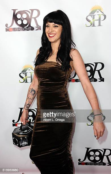 Makeup artist Heather Galipo arrives for the Premiere Of JR Productions' Halloweed held at TCL Chinese 6 Theatres on March 15 2016 in Hollywood...
