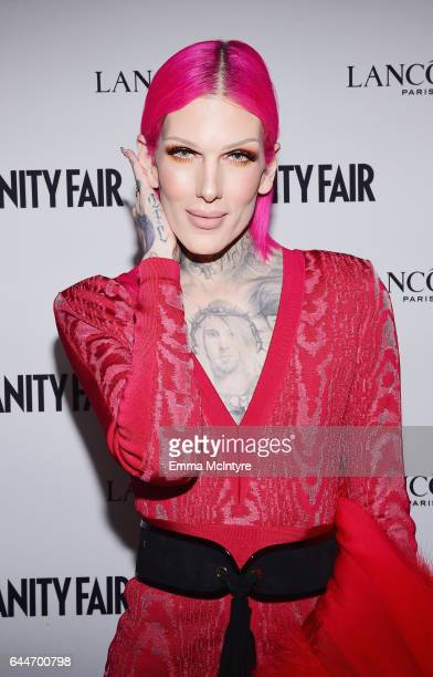 Makeup artist Jeffree Star attends Vanity Fair and Lancome Toast to The Hollywood Issue at Chateau Marmont on February 23 2017 in Los Angeles...