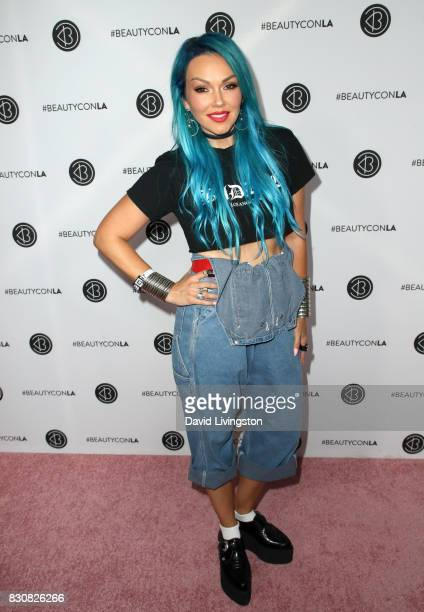 Makeup artist Kandee Johnson attends Day 1 of the 5th Annual Beautycon Festival Los Angeles at the Los Angeles Convention Center on August 12 2017 in...