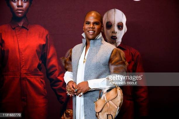 Makeup artist Lawrence Washington arrives for the New York premiere of US at the Museum of Modern Art on March 19 2019 in New York City