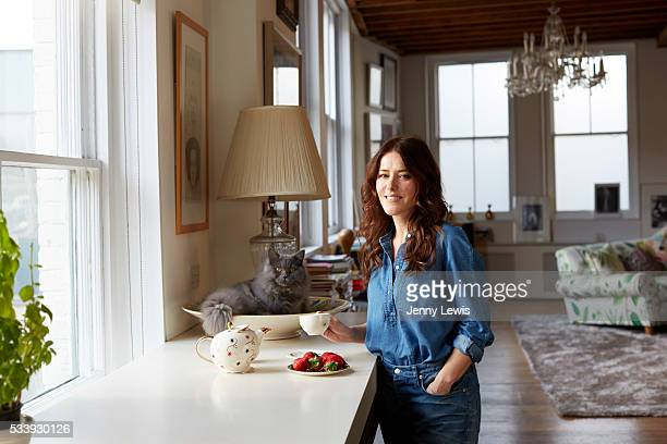 Makeup artist Lisa Eldridge is photographed for the Telegraph on January 28 2016 in London England
