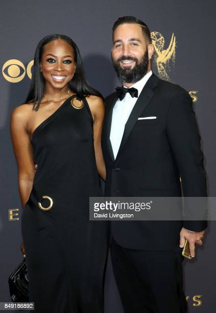 Makeup artist Malika James and producer Hale Rothstein attends the 69th Annual Primetime Emmy Awards Arrivals at Microsoft Theater on September 17...