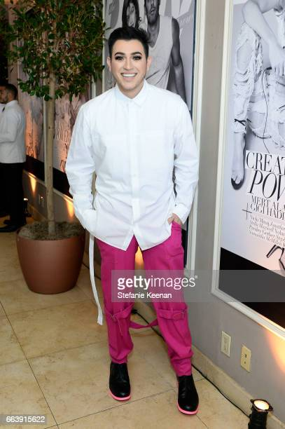 Makeup artist Manny Mua attends the Daily Front Row's 3rd Annual Fashion Los Angeles Awards at Sunset Tower Hotel on April 2 2017 in West Hollywood...