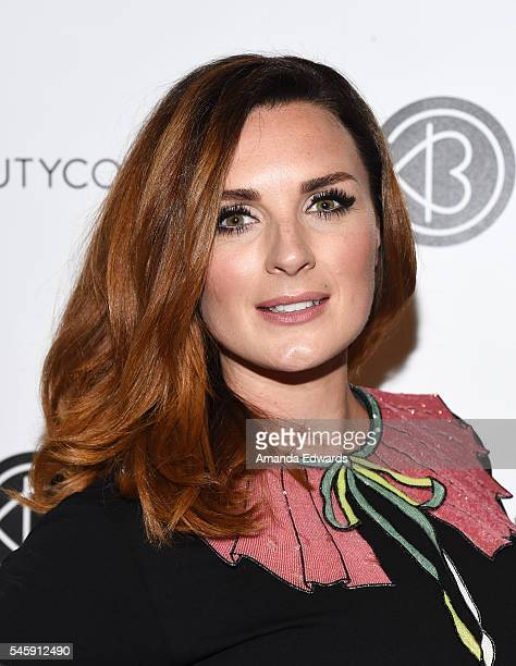 Makeup artist Nicola Chapman of Pixiwoo arrives at the 4th Annual Beautycon Festival Los Angeles at the Los Angeles Convention Center on July 9 2016...