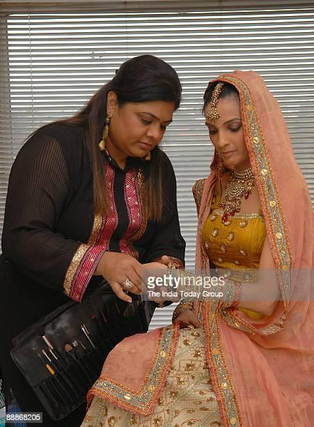 Makeup artist Nisha Soni at her Residence in Mumbai Maharashtra India