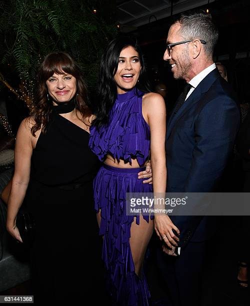 Makeup artist Pati Dubroff TV personality Kylie Jenner and hairstylist Chris McMillan attend Marie Claire's Image Maker Awards 2017 at Catch LA on...