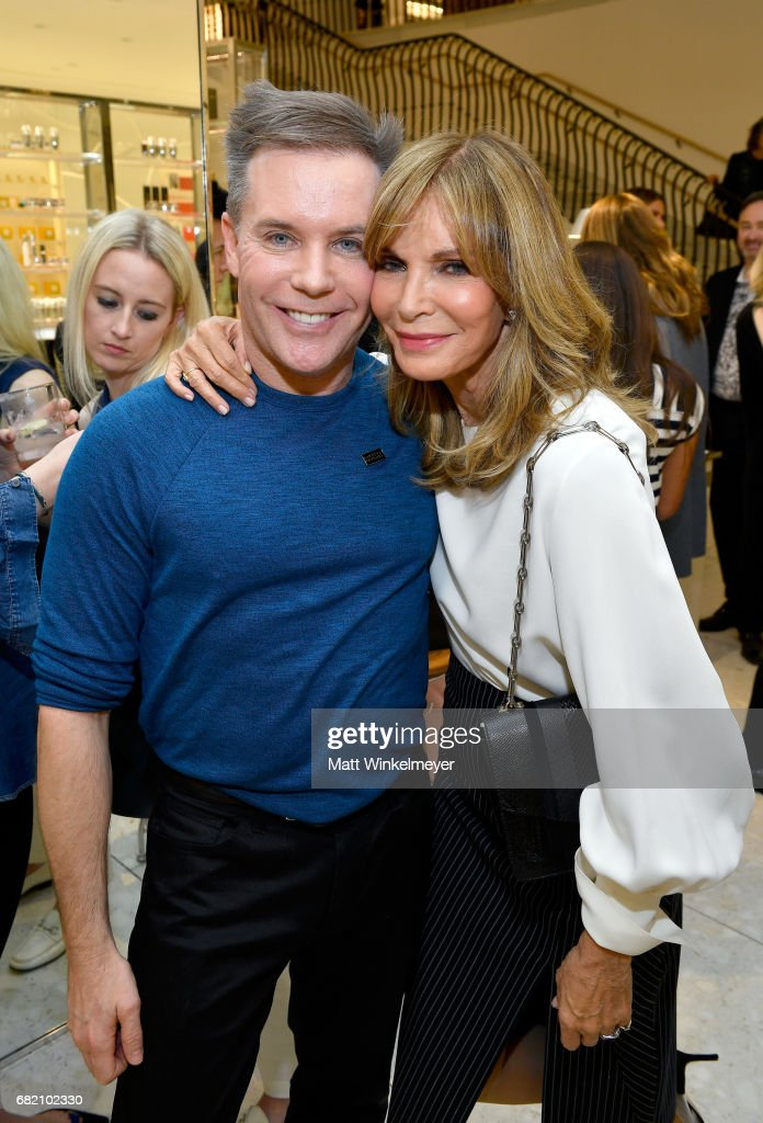 Makeup artist Patrick Foley (L) and actor Jaclyn Smith attend Barneys New York Celebration of the Farrah Fawcett Foundation at Barneys New York Beverly Hills on May 11, 2017 in Beverly Hills, California.