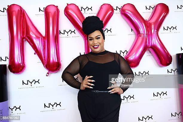 Makeup artist Patrick Starr poses for photos during the NYX Professional Makeup Store Kings Plaza Influencer Meet & Greet With @patrickstarrr on May...