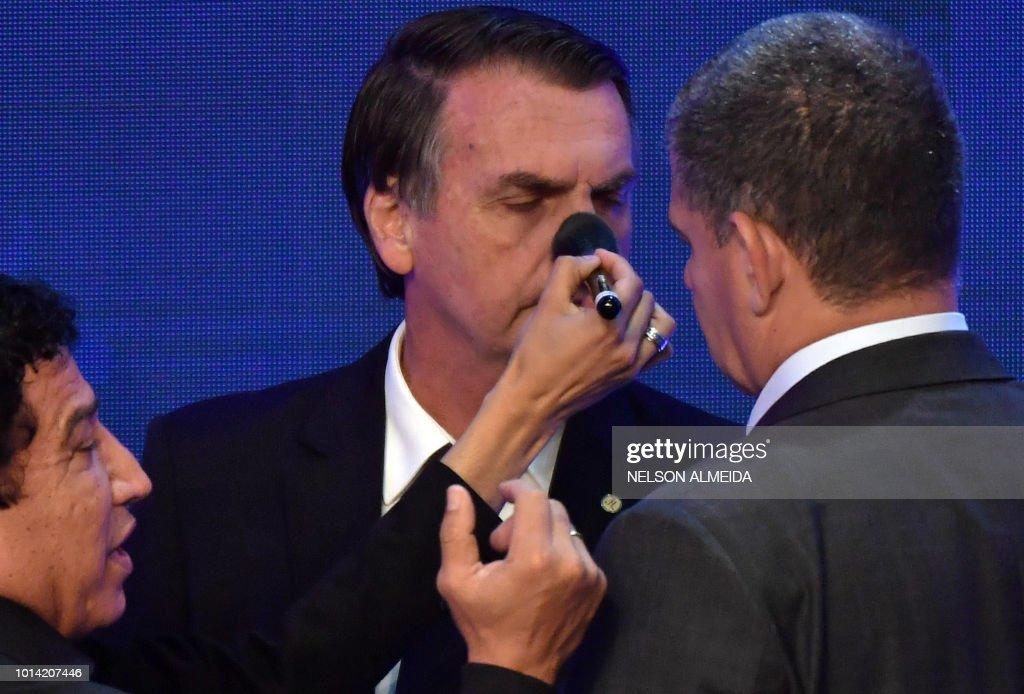 BRAZIL-ELECTION-CANDIDATES-DEBATE : News Photo