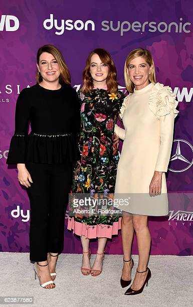 Makeup Artist Rachel Goodwin Emma Stone and Stylist Petra Flannery attens the 2nd Annual StyleMaker Awards hostd by Variety and WWD at Quixote...