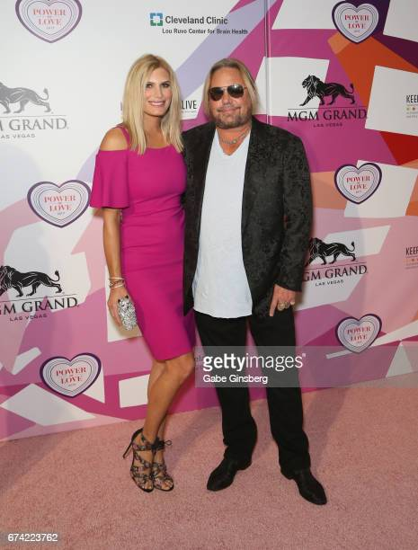 "Makeup artist Rain Hannah and singer Vince Neil of Motley Crue attend Keep Memory Alive's 21st annual ""Power of Love Gala"" benefit for the Cleveland..."