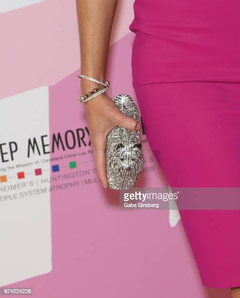 "Makeup artist Rain Hannah, purse detail, attends Keep Memory Alive's 21st annual ""Power of Love Gala"" benefit for the Cleveland Clinic Lou Ruvo..."