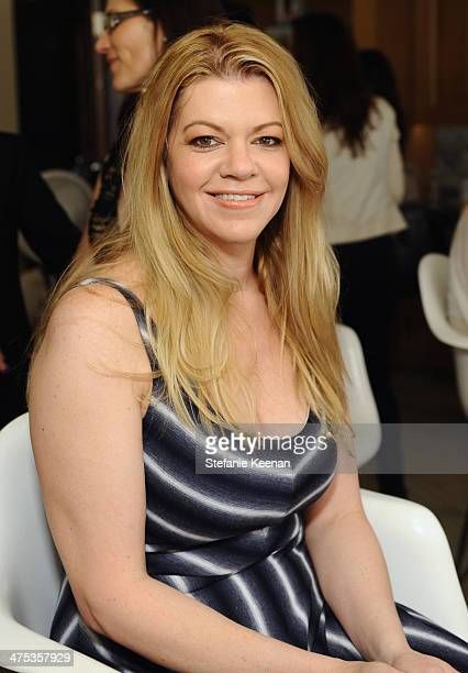 Makeup artist Robin Mathews attends the beauty luncheon and spa day with Lancome and Clarisonic during Vanity Fair Campaign Hollywood at Montage...