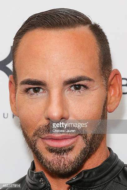Makeup artist Scott Barnes attends BeautyCon LA talent lounge sponsored by NYX Cosmetics at LA Mart at The Reef on August 16 2014 in Los Angeles...
