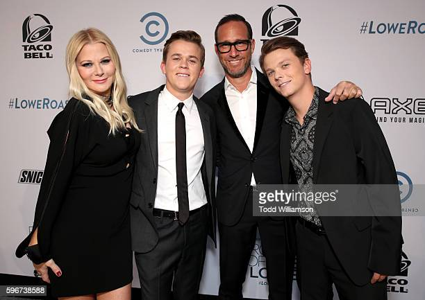 Makeup artist Sheryl Berkoff John Owen Lowe talent Agent Richard Weitz and Matthew Edward Lowe attend The Comedy Central Roast of Rob Lowe at Sony...