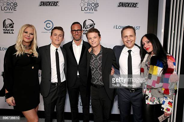 Makeup artist Sheryl Berkoff John Owen Lowe talent Agent Richard Weitz and Matthew Edward Lowe actor Chad Lowe and guest attend The Comedy Central...