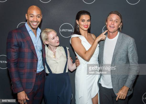 Makeup Artist Sir John Sarah Brown Model/Television Personality Adriana Lima and Photographer Russell James attend the 'American Beauty Star' New...