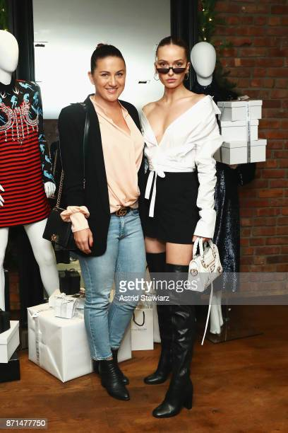 Makeup artist Tobi Henney and model Annabella Barber attend THE OUTNET In Residence Dinner on November 7 2017 in New York City