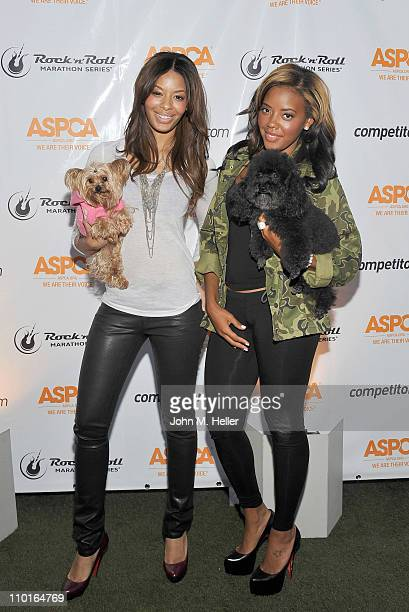 Makeup artist Vanessa Simmons and actress Angela Simmons attend the ASPCA launch for the 2011 Dodge Rock 'n' Roll Los Angeles half marathon...