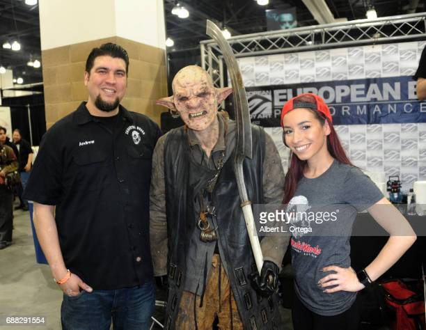 Makeup artists Andrew Freeman and Faina Rudshteyn attend day 2 of the 2017 Monsterpalooza held at Pasadena Convention Center on April 9 2017 in...