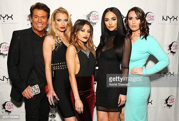 Makeup artists Brian Champagne Nikki French Isabel Bedoya Ashley Holm Morgan Haris attend NYX FACE Awards Launch Party IMATS NY 2016 on April 9 2016...
