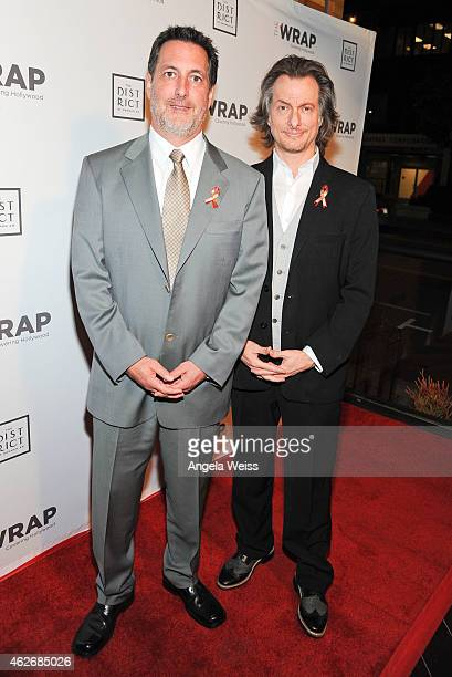 Makeup artists Dennis Liddiard and Bill Corso attend TheWrap's 6th Annual PreOscar Event Red Carpet at The District Restaurant on February 2 2015 in...