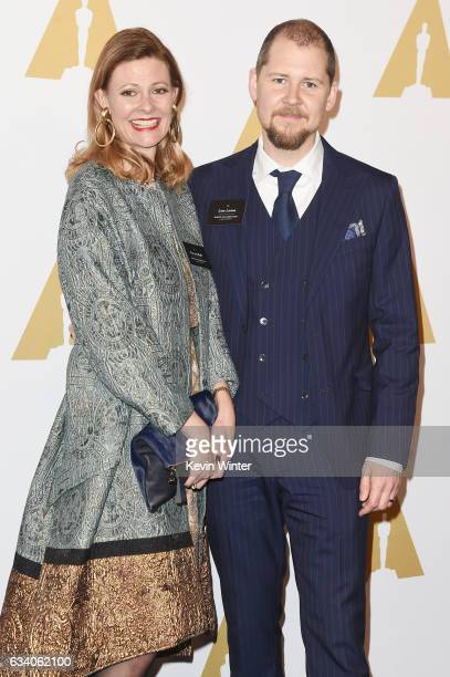 Makeup artists Eva von Bahr and Love Larson attend the 89th Annual Academy Awards Nominee Luncheon at The Beverly Hilton Hotel on February 6 2017 in...